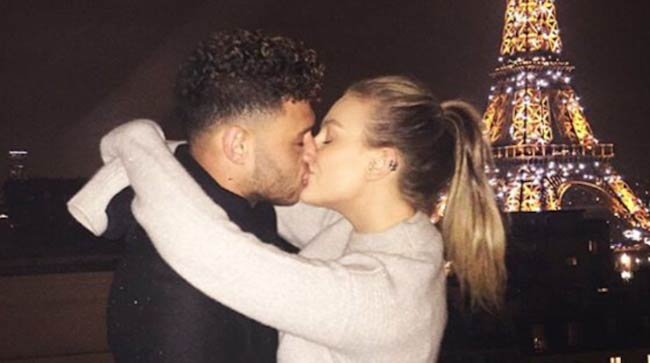 Alex Chamberlain and Perrie Edwards as seen in 2017