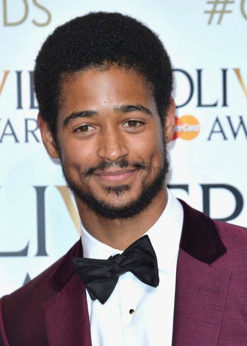 Alfred Enoch at the 2016 Olivier Awards