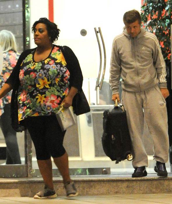 Alison Hammond and Jamie Savage leaving the hotel in 2016