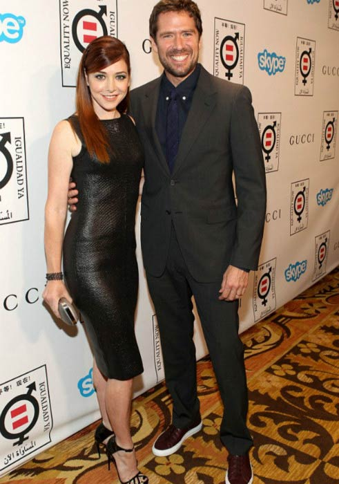 Alyson Hannigan and Alexis Denisof at the Equality Now presents 'Make Equality Reality' in November 2013