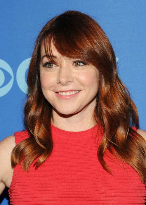Alyson Hannigan at the CBS Upfront Presentation in May 2013