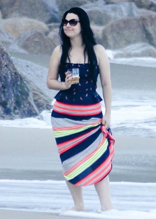 Amy Lee during a photoshoot in Rio de Janeiro