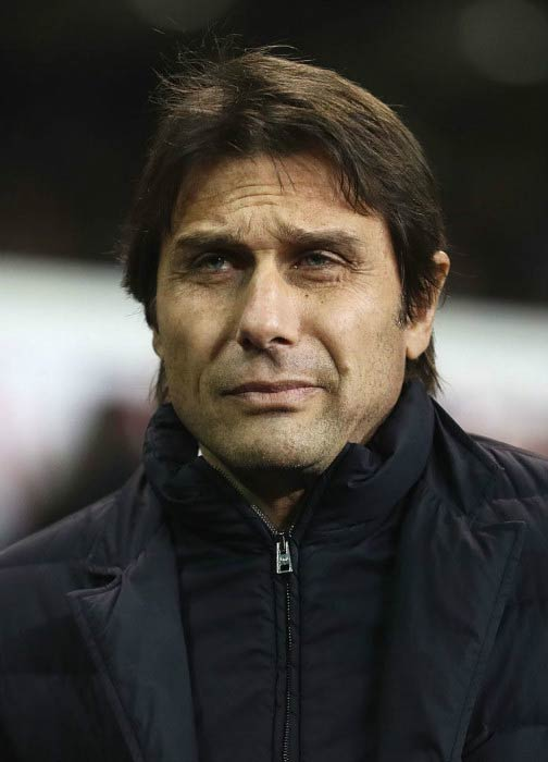 Antonio Conte at the Tottenham Hotspur and Chelsea match in January 2017 in London