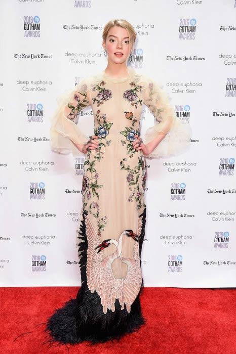 Anya Taylor-Joy at the 2016 Gotham Independent Film Awards
