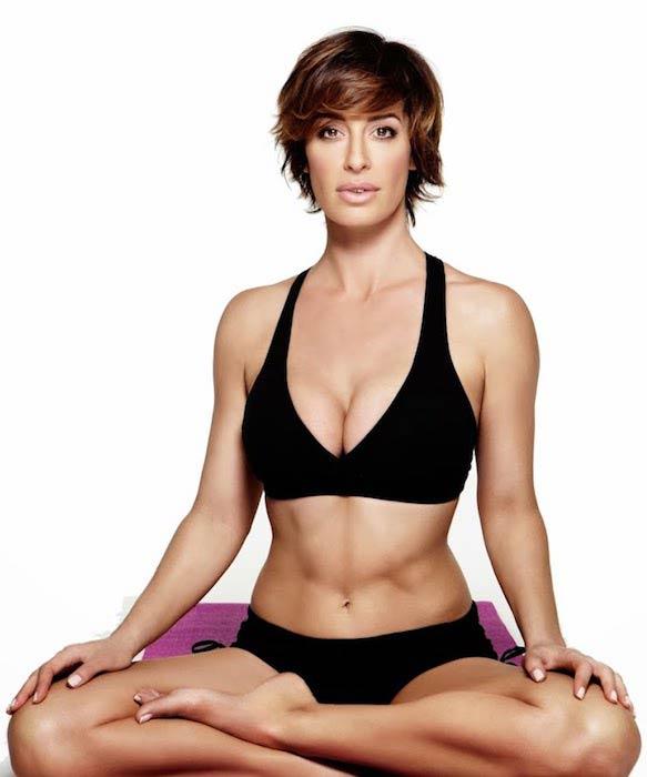 Ashley Borden doing yoga