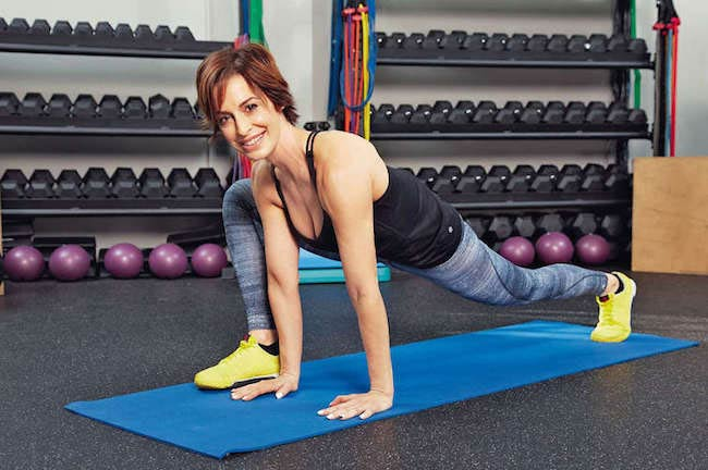 Ashley Borden doing floor workout