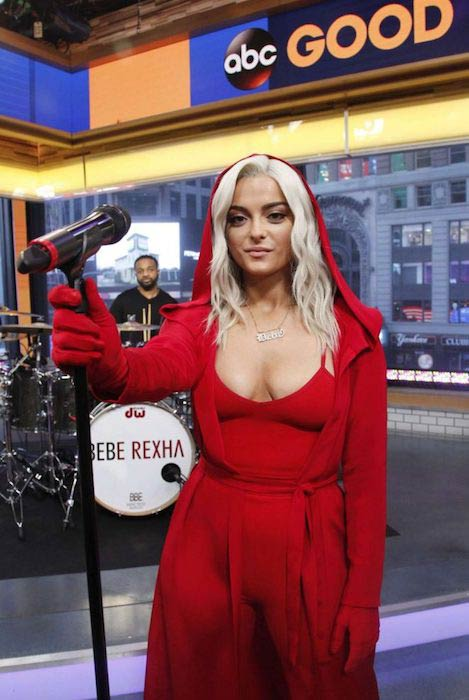 Bebe Rexha performs at Good Morning America in January 2017