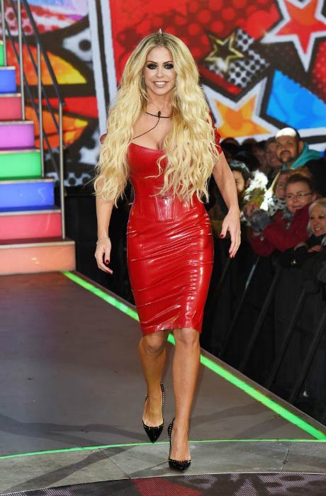 Bianca Gascoigne at the Celebrity Big Brother House in January 2017