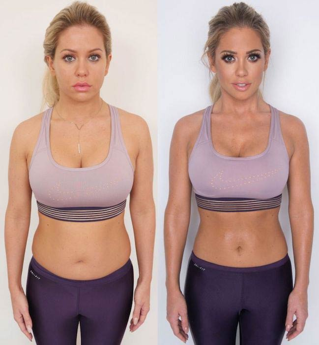 Bianca Gascoigne before and after weight loss