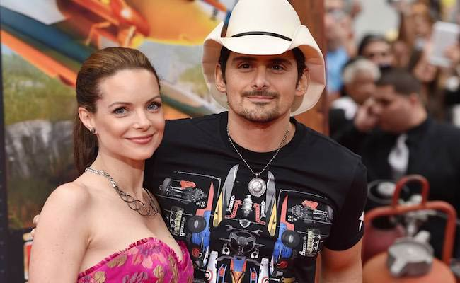 Brad Paisley and wife Kimberly Williams Paisley at the premiere of Planes Fire & Rescue on July 15, 2014