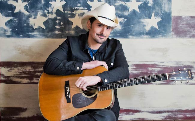 Brad Paisley at Rockefeller Plaza in New York City on September 4, 2015