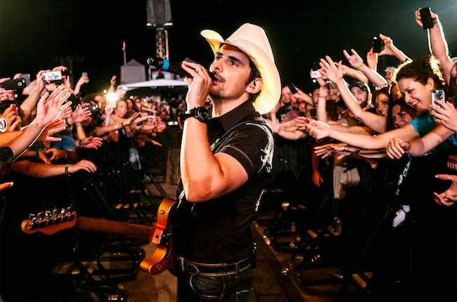 Brad Paisley during a concert in Quebec Canada in July 2016