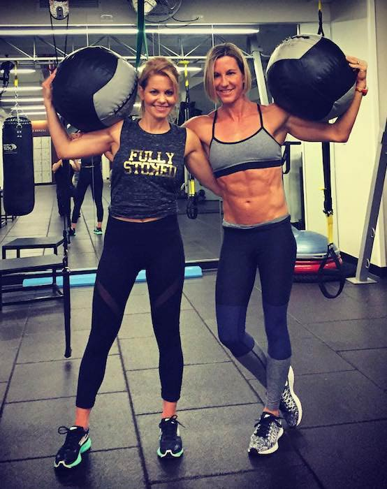 Candace Cameron-Bure (Left) with personal trainer Kira Stokes