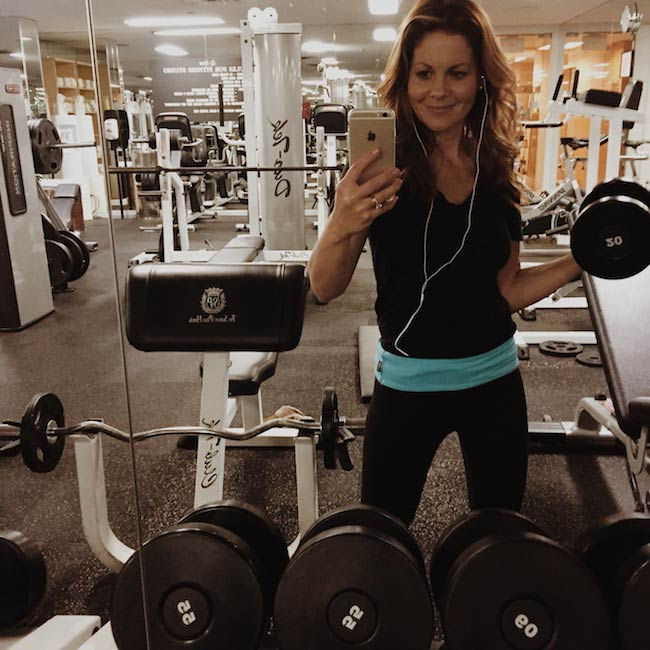 Candace Cameron-Bure gym selfie