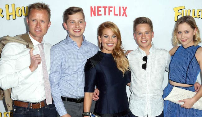 Candace Cameron-Bure with family