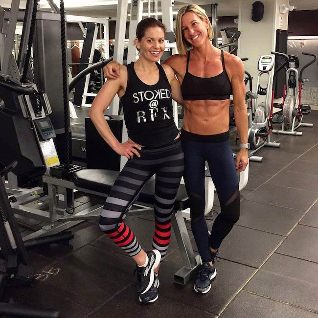 Candace Cameron-Bure with trainer Kira Stokes