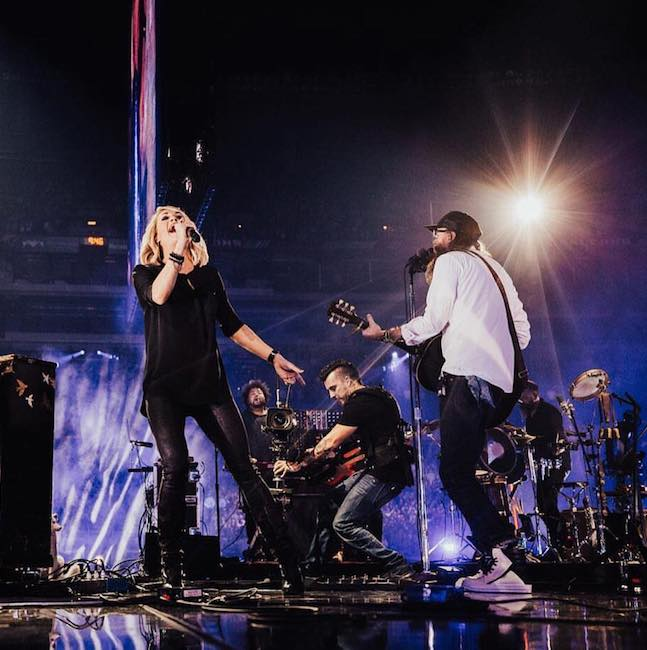 Carrie Underwood and David Crowder perform at the 2017 Passion Conference in Atlanta, Georgia