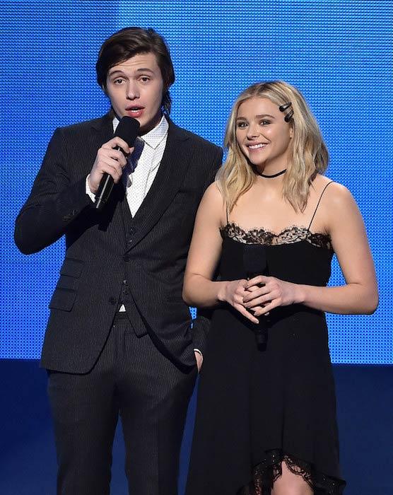 Chloe Grace Moretz and Nick Robinson at 2015 American Music Awards
