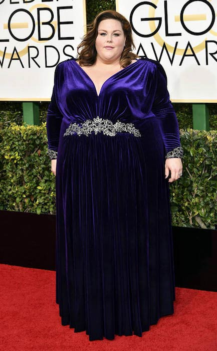 Chrissy Metz at 2017 Golden Globe Awards