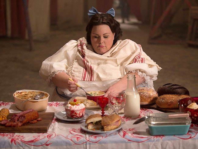 Chrissy Metz feeding her with sufficient food