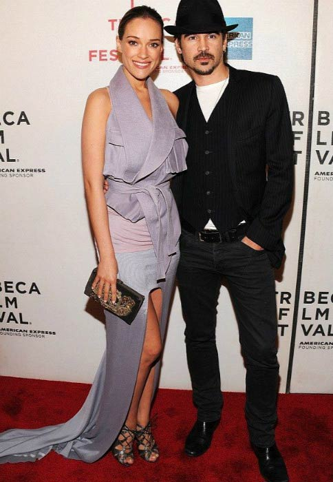 Colin Farrell and Alicja Bachleda-Curus at the Tribeca Film Festival in 2010