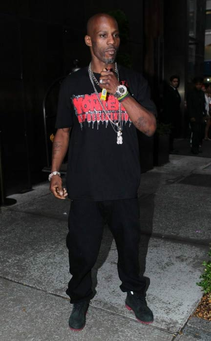 DMX outside a New York Hotel in August 2013