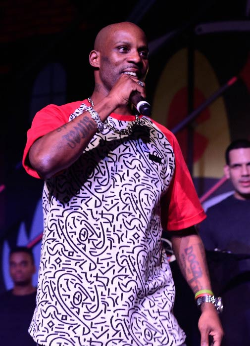 DMX performing onstage at The Dean Collection X BACARDI Untameable House Party in December 2015