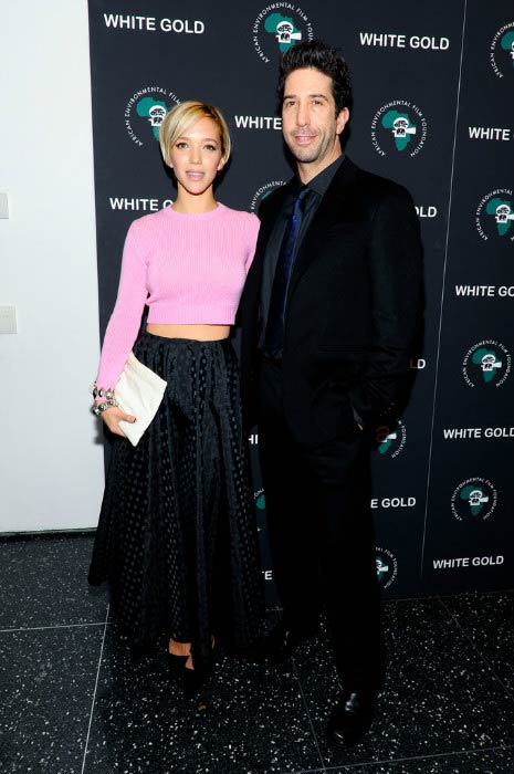"David Schwimmer and Zoe Buckman at the special screening of ""White Gold"" in November 2013"