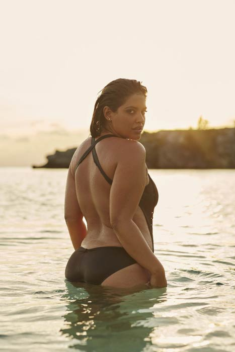 Denise Bidot at the photoshoot for the swimsuitsforall campaign
