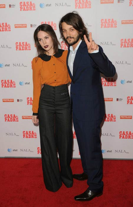 Diego Luna and Camila Sodi at Casa De Mi Padre premiere in March 2012