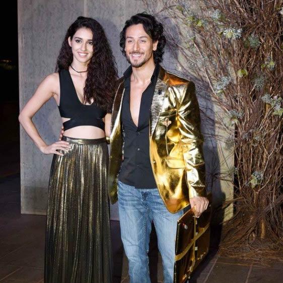 Disha Patani and Tiger Shroff at the fashion designer Manish Malhotra's 50th birthday bash in December 2016