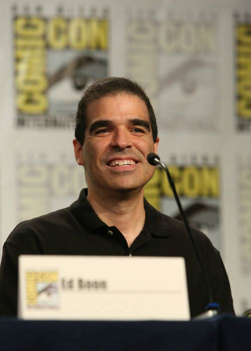 Ed Boon at the Comic-Con for the MORTAL KOMBAT: LEGACY II panel session in July 2013
