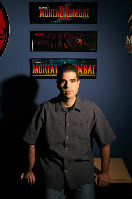 Ed Boon in a photoshoot for Mortal Kombat game