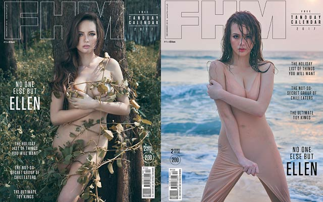 Ellen Adarna on the cover of FHM's December 2016 issue