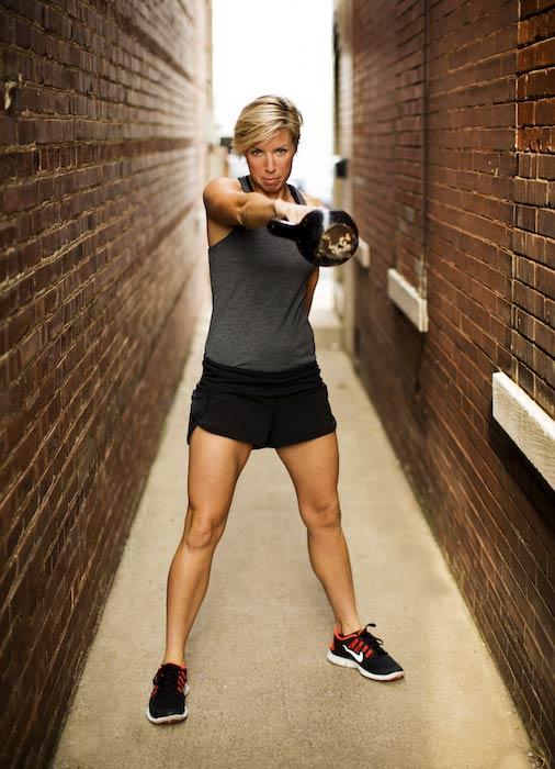 Erin Oprea exercising
