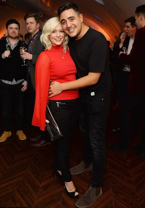Former Hear'Say members Suzanne Shaw and Noel Sullivan during the Matthew Perry's The End of Longing play press night in February 2016