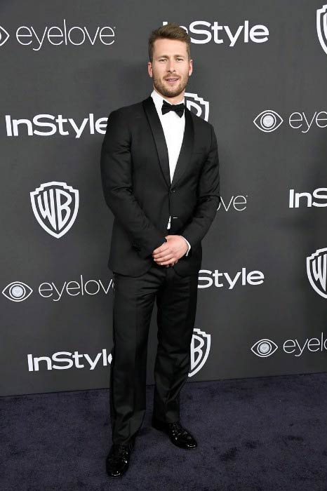 Glen Powell at the 2017 Post-Golden Globes Party