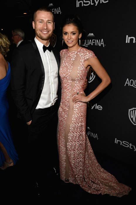 Glen Powell and Nina Dobrev at 2016 Golden Globe Awards Post-Party