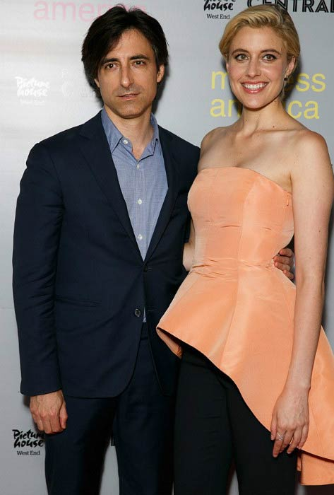 Greta Gerwig and Noah Baumbach at a photocall for Mistress America in August 2015 in London, England