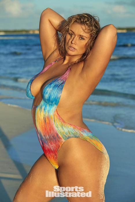Hunter McGrady for 2017 Sports Illustrated Swimsuit Issue in bodypaint