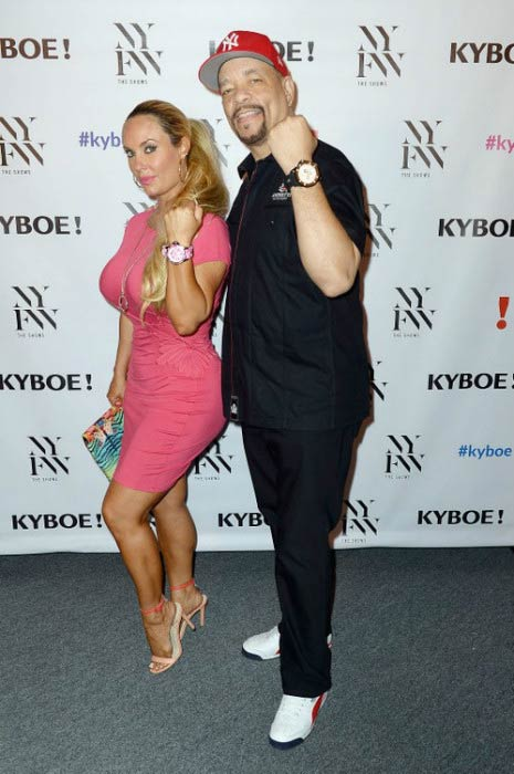 Ice-T and Coco Austin at the KYBOE! Fashion Show during New York Fashion Week in September 2016