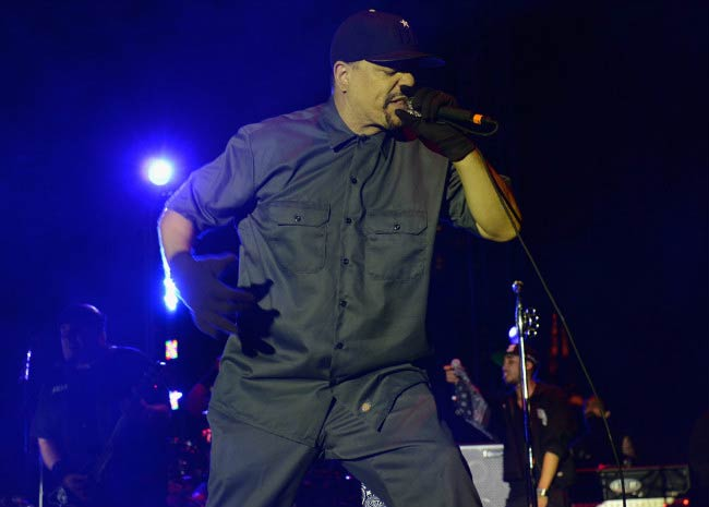 Ice-T performing at the Gibson Brands AP Music Awards in July 2014 in Ohio
