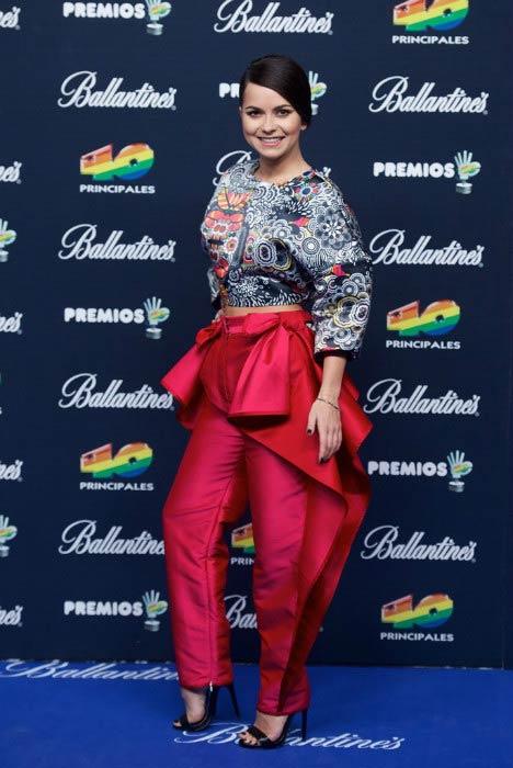 Inna at the 40 Principales Awards in December 2014 in Spain