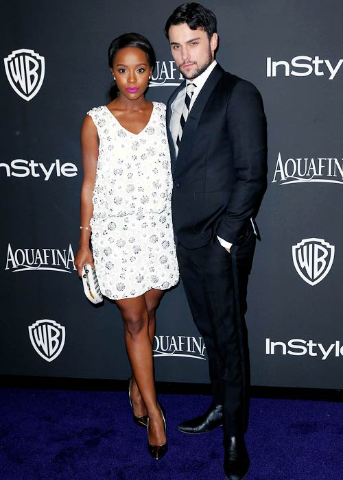 Jack Falahee and Aja Naomi King at the InStyle Golden Globe After Party
