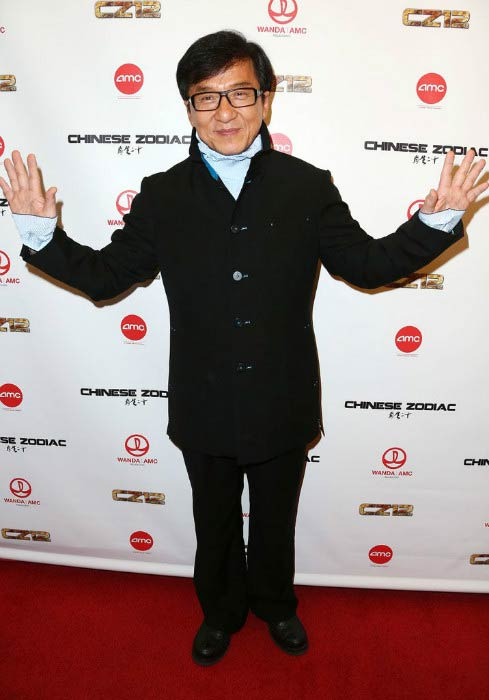Jackie Chan at the premiere of Chinese Zodiac in Century City in October 2013