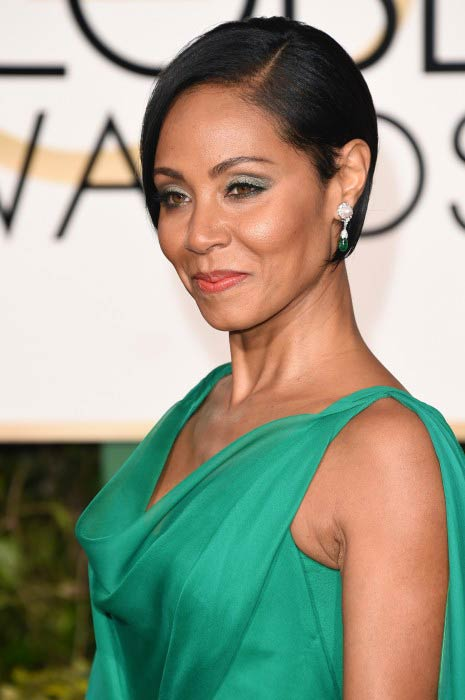 Jada Pinkett Smith at the 2016 Golden Globe Awards
