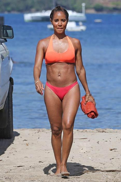 Jada Pinkett Smith at a Hawaii beach in 2016