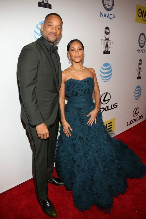 Jada Pinkett Smith and Will Smith at the NAACP Image Awards in February 2016