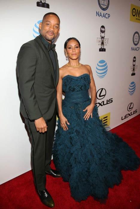Jada Pinkett Smith and Will Smith at the NAACP Image Awards in February 2016