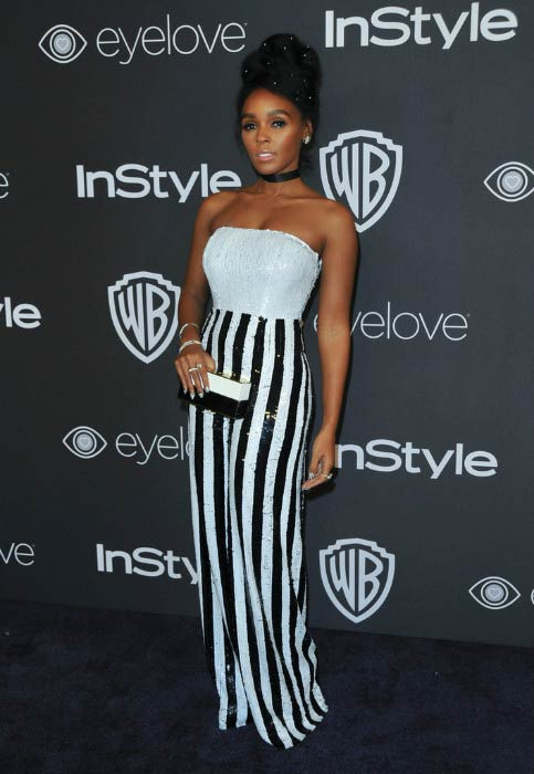 Janelle Monae at the 2017 Post-Golden Globes Party